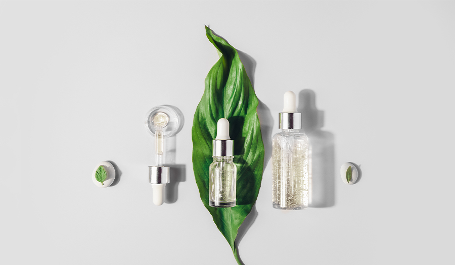 Natural Serums. Concept of cosmetic injection is hyaluronic acid, botulin, serum