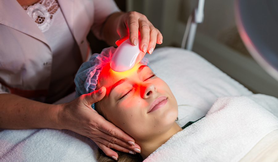 Woman getting halo laser