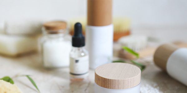 assorment of skin care products